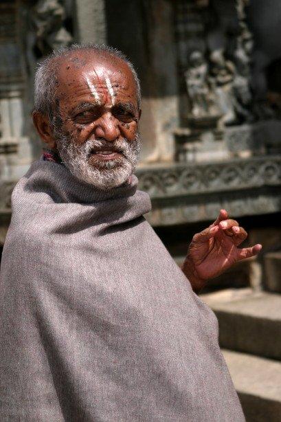 Devote in Temple (Belur, India)