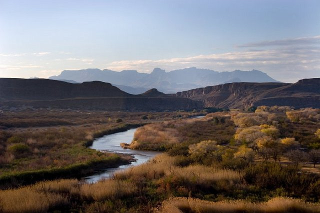 Rio Grande Border of Mexico and USA