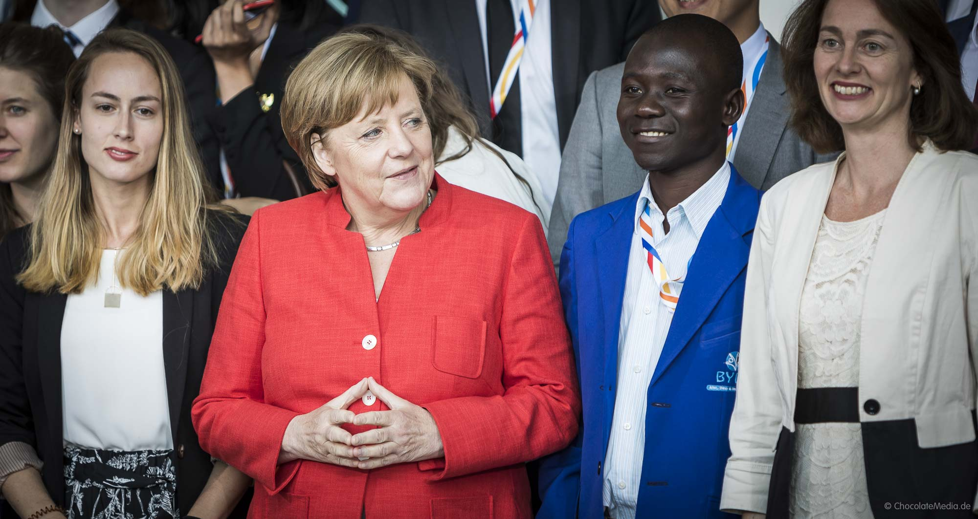 Angela Merkel with G20 Youth Representatives at Kanzleramt. (Berlin 2017)